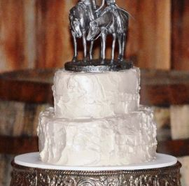 Rustic buttercream, pewter topper