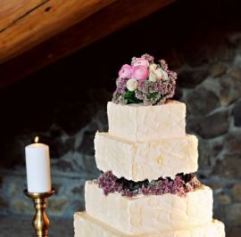 Rustic stucco textured buttercream
