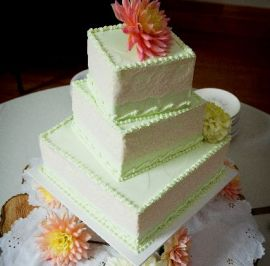 Lace on mint buttercream